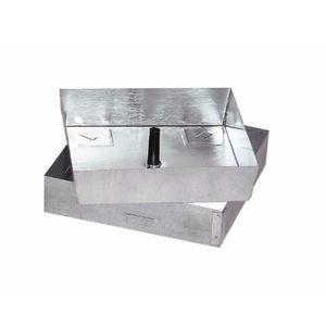 Schachtdeckel / verzinkter Stahl / quadratisch