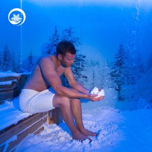 Schneeraum für Wellnesscenter