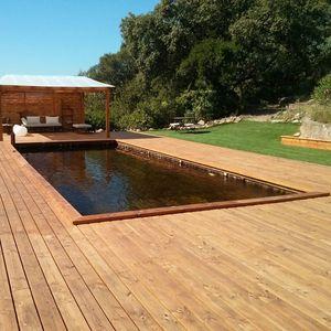 Naturschwimmbecken / erdverlegt / Holz / nach Maß