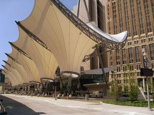 Membran-Architektur / PTFE / für Seiltragwerk / für öffentliche Bereiche / Dach