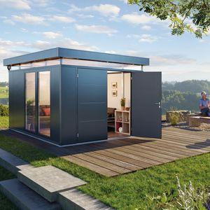 Gartenhaus / verzinkter Stahl / Aluminium / modern / für Privatgebrauch