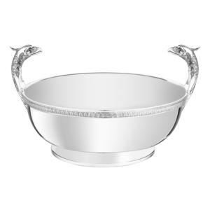 Tischdekoration / versilbertes Metall