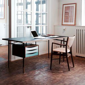Schreibtisch aus Eiche / aus Nussbaum / aus Teakholz / aus Kiefer