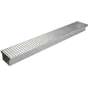 Edelstahl-Abflussrinne / verzinkter Stahl / Gitter / flach