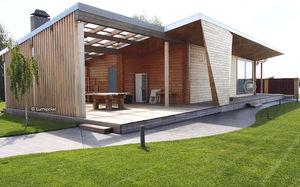 Fertigbau-Gebäude / Brettschichtholz / für Privatgebrauch / modern