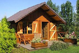 Garten-Blockhaus / rote Zeder