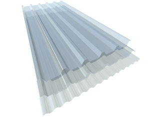 Polycarbonat-Platte / Well / für Dächer / für Fassadenverkleidung / lichtdurchlässig
