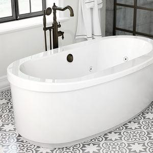 Badewannen-Einhebelmischer / bodenstehend / Messing / für Badezimmer