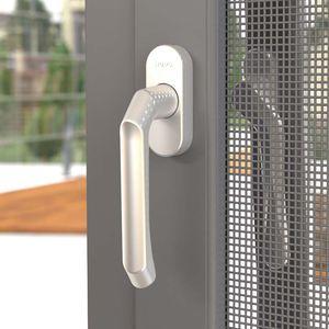 Flügelfenster / Aluminium / Edelstahl / mit Sicherheitsvorrichtung
