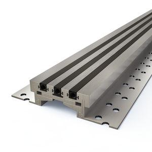 Nitril-Dehnungsfuge / Aluminium / für Böden / für Fußböden