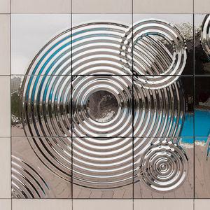 Verkleidungspaneel / Glas / wandmontiert / für Innenausbau