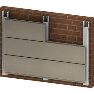 Hinterlüftete Fassade / Aluminium / glatt / mit Befestigungselementen