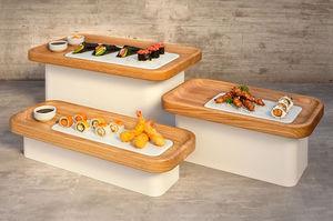 Tisch-Ablageregal / für Nahrungsmittel / Holz / Metall