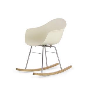 moderner Stuhl / mit Armlehnen / wippend / Holz