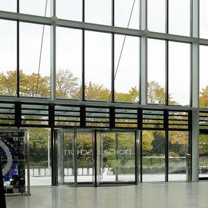 Eingangstür / Dreh / Aluminium / mit Sicherheitsvorrichtung