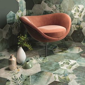 Sechseckige Fliese / Innenraum / Wand / Boden / Keramik