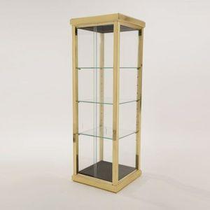 moderne Vitrine / Glas / Messing / Stoff