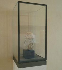 moderne Vitrine / Tisch / Glas / Messing