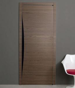 Tür für Innenbereich / mit seitlicher Drehachse / Holz / bündig