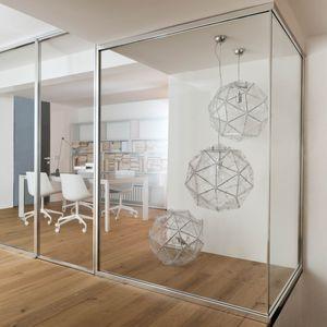 abnehmbare Trennwand / Aluminium / Glas / für Besprechungsraum