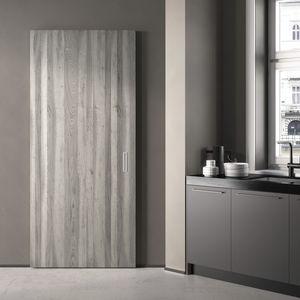 Tür für Innenbereich / Schiebe / Holz / lackiert