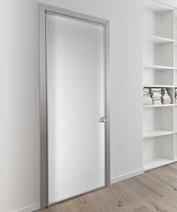 Tür für Innenbereich / einflügelig / Aluminium / Glas