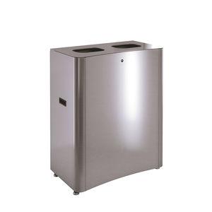 Stahlblech-Abfallbehälter / Edelstahl / gebürsteter Edelstahl / für Schulen