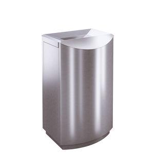 Abfallbehälter / gebürsteter Edelstahl