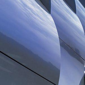 Platten-Fassadenverkleidung / Aluminium / Verbundwerkstoff / reflektierend