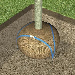 Verankerungssystem für Bäume / Mit Abstützung