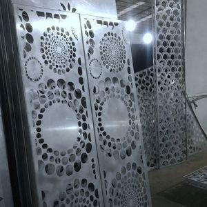 perforiertes Metallblech / Dekor / Aluminium / für Innenausbau