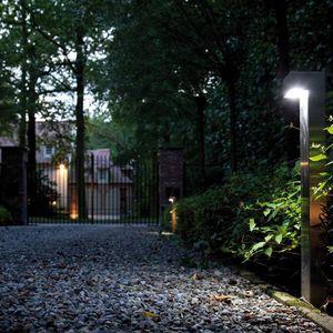 Garten-Leuchtpoller / modern / Stahl / Messing