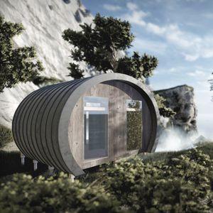 Fertigbau-Mikrohaus / individuell / modern / Holz