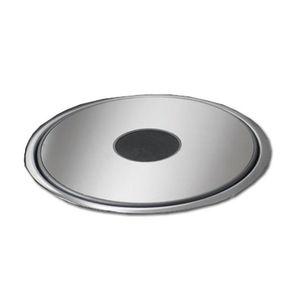 3-Fach-Steckdose / Unterputz / Aluminium / modern