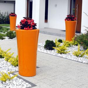 Verbundwerkstoff-Pflanzgefäß / freistehend / rund / hoch