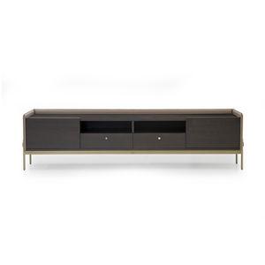 modernes Fernsehmöbel / lowboard / für Hotelzimmer / Holzfurnier