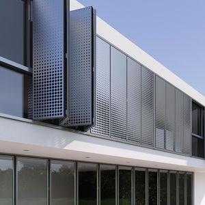 Rolladen / faltbar / Aluminium / für Fassaden