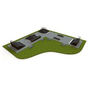 Beton-Skatepark / Asphalt / modulierbarer