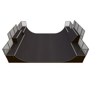 Mini Rampe / für Skatepark / Asphalt / Beton