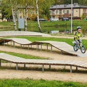 Pumptrack für Skatepark / für Bikeparks / modulierbarer / Linear