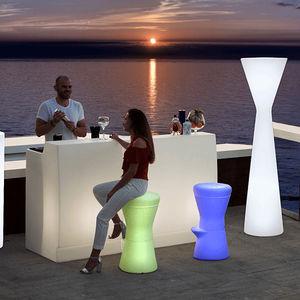 moderner Barhocker / Polyethylen / Objektmöbel / LED beleuchtet