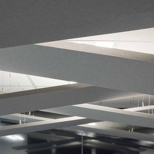 Akustikplatte für Decken / wandmontiert / aus Polyesterfasern / Dekor