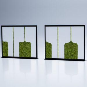 Raumteiler / lackiertes Metall / aus Acrylharz / für Büro / für Restaurants
