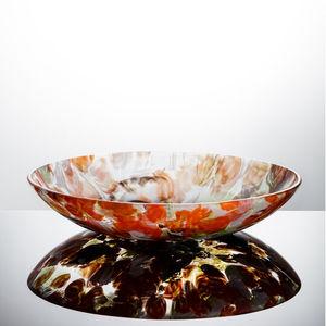 Tischdekoration / geblasenes Glas