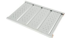 Vertäfelung für Decken / Aluminium / strukturiert / vorlackierte platte