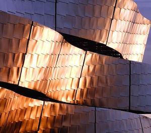 Edelstahl-Verblendstein / verzinkter Stahl / für Fassaden / Innenbereich