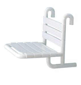 festinstallierter Duschsitz / hängend / Aluminium / Objektmöbel