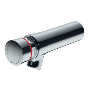Einhebelmischer für Waschtisch / wandmontiert / aus verchromtem Messing / Selbstschluss