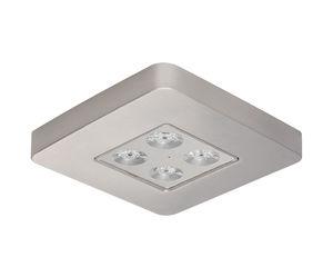 deckenmontierte Notbeleuchtung / quadratisch / LED / Aluminium