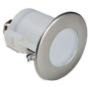 Einbauleuchte / LED / rund / Edelstahl
